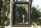 Antieke spiegel, Louis Philippe.